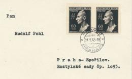 Reinhard Heydrich Totenmaske Ersttag-Stempel Prag Praha 28.05.1943 - Briefe U. Dokumente