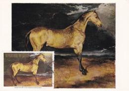 Carte Maximum Peinture Tchad 1974 Géricault Cheval - Chad (1960-...)