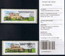 2 Atms, Lisa2, COMPL. LETTRE VERTE DD 0.41€, MARCOPHILEX XLIII MONTROND LES BAINS 2019. Le Château De MONTROND LES BAINS - 2010-... Illustrated Franking Labels