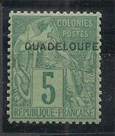 Guadeloupe - 1891 - N°Yv. 17 - 5c Vert - Neuf Luxe ** / MNH / Postfrisch - Ungebraucht