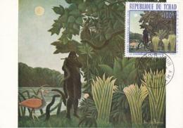 Carte Maximum Peinture Tchad Rousseau 1968 - Chad (1960-...)