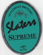 ECCLESHALL BREWERY (ECCLESHALL, ENGLAND) - SLATERS SUPREME - PUMP CLIP FRONT - Uithangborden