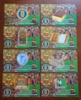 Buddha Statue,China 1998 The 2000th Anniversary Of Chinese Buddhism Organizational Committee Set Of 8 Pre-stamped Card - Buddhism