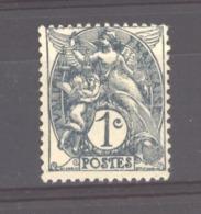 France  :  Yv  107e  **   Type IB , Ardoise , Papier GC - 1900-29 Blanc