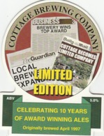 COTTAGE BREWING COMPANY (LOVINGTON, ENGLAND) - LIMITED EDITION - PUMP CLIP FRONT - Signs