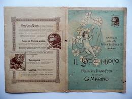 Spartito Il Secolo Nuovo Polka Per Pianoforte G. Marino Omaggio Bisleri Milano - Vecchi Documenti