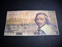 """FRANCE 10 Nouveaux Francs 15/10/1959 """"Richelieu"""", Pick N° 142 , Fayette N°57 (3), FRANCIA ,FRANKREICH , - 1959-1966 Francos Nuevos"""