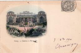 VICHY LE CASINO CACHET PHARMACIE PEYRAMAURE L.CHATAIGNER  CIVRAY (VIENNE) 1901 PRECURSEUR - Vichy