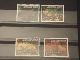 ANTILLE - 1965 FAUNA MARINA 4 VALORI -  NUOVI(++) - Antillen