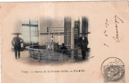 VICHY SOURCE DE LA GRANDE GRILLE CACHET PHARMACIE PEYRAMAURE L.CHATAIGNER  CIVRAY (VIENNE) 1901 PRECURSEUR - Vichy