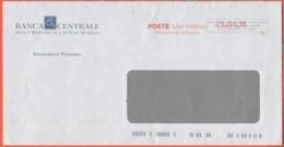SAN MARINO - 2018 - P.P. + Ema, Red Cancel - Banca Centrale Della Repubblica Di San Marino - Viaggiata Da San Marino - Saint-Marin