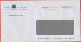 SAN MARINO - 2017 - P.P. + Ema, Red Cancel - Banca Centrale Della Repubblica Di San Marino - Viaggiata Da San Marino - Saint-Marin