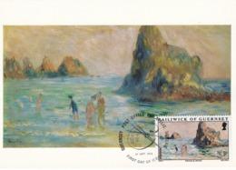 Carte Maximum Peinture Guernesey 1974 Renoir - Guernesey