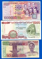 Ghana  3  Billets - Ghana