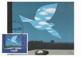 Carte Maximum Peinture Belgique 1998 Magritte - Maximumkarten (MC)