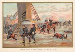 Bataille De SAINT QUENTIN Belle Image De 1894-1895 Illustration Germain - Army & War