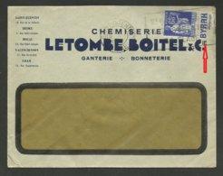 PAIX Avec Pub BYRRH / Enveloppe Commerciale Avec Entete / ST QUENTIN - AISNE 1938 - Marcophilie (Lettres)
