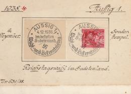 Reichstagswahl Im Sudetenland 1938 / Aussig 1, Wahl- Und Bekenntnistag  Befreiten - Lettres & Documents