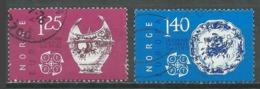 Norvège YT N°680/681 Europa 1977 Faïences D'Herrebo Oblitéré ° - Europa-CEPT