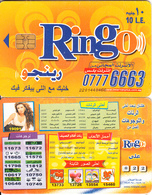 EGYPT - 07776663(reverse Love Numbers 19091), Ring-O Telecard 10 L.E., Chip Siemens 35, CN : 2201(thin), Used - Aegypten