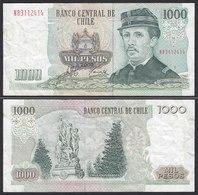 CHILE - 1000 Pesos Banknote 2000 Pick 154f  F/VF Prefix NB Block 1  (19703 - Altri – America