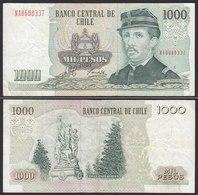 CHILE - 1000 Pesos Banknote 2003 Pick 154f  VF Prefix NA Block 5 (19705 - Altri – America