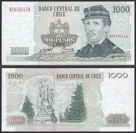 CHILE - 1000 Pesos Banknote 2004 Pick 154f  VF Prefix NA Block 11 (19706 - Altri – America