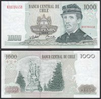 CHILE - 1000 Pesos Banknote 2004 Pick 154f  VF Prefix NA Block 11 (19706 - Billetes