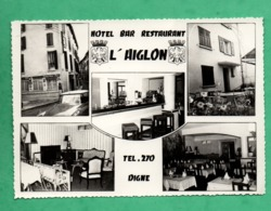 04 Alpes De Haute Provence Digne Hotel Restaurant L ' Aiglon  Carte Multivues (format 10,5cm X 15cm ) - Digne
