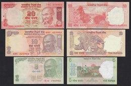 Indien - India 5, 10,20 RUPEES Banknote UNC (1)  (19760 - Billetes