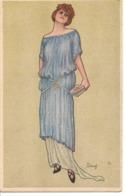 DINAF Illustrateur FEMME  Mode Charme - Künstlerkarten