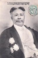 CPA : Portrait De Sa Majesté Sisowath Roi Du Cambodge  Et Ses Décorations  Phnom Penh   1906  Ed Dieulefils Hanoï - Cambodge