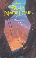 Télécarte Japon / 110-179680 - DISNEY - Cinéma Film - BELLS OF NOTRE DAME PARIS  / BOSSU & CLOCHE BELL - Japan Phonecard - Disney