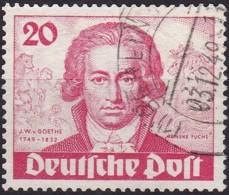 Berlin, 1949,  62, Used,  Johann Wolfgang Von Goethe. - Used Stamps