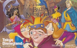 Télécarte Japon / 110-179370 - DISNEY - LE BOSSU / BELLS OF NOTRE DAME - Movie Cinema Japan Phonecard - Disney