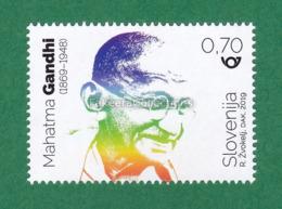 SLOVENIA 2019 Slovenija - MAHATMA GANDHI 150th Birth Anniversary 1v MNH ** - MOHANDAS KARAMCHAND GANDHI - As Scan - Mahatma Gandhi