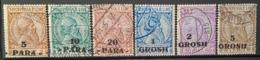 ALBANIA 1914 - Canceled - Sc# 47-52 - Skanderbeg - Complete Set! - Albanie