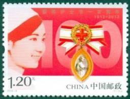 CHINA 2012-9 100th Ann Of International Nurses Day STAMP 1V - 1949 - ... Repubblica Popolare