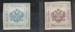 Österreich , Zeitungsmarken Nr 5+6 Postfrisch - Zeitungsmarken