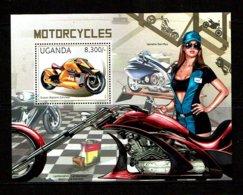 Uganda 2012 Sc # Bf  MNH **  Motorcycles - Motorbikes