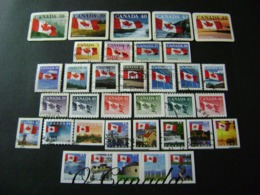 Canada 1989 To 2005 Canadian Flag Definitives (SG 1328-1328e, 1350-1374e) - Used - 1952-.... Règne D'Elizabeth II