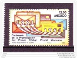 Mexique, Mexico, Code Postal, Postal Code, Lettre, Letter - Zipcode