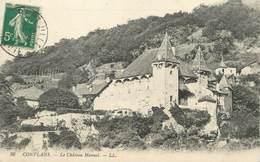 """/ CPA FRANCE 73 """"Conflans, Le Château Manuel"""" - Frankreich"""