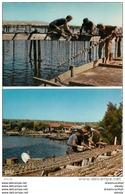 Photo Cpsm Cpm METIERS DE LA MER. Parc à Huîtres. Etang De Thau. Pour La Tresse Par Saint-Gervais 1962 - Pêche