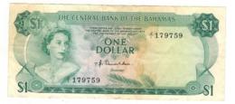 Bahamas 1 Dollar , L.1974. (Donaldson) F/VF - Bahamas
