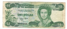 Bahamas 1 Dollar , L.1974.  P-43b, F+. - Bahamas