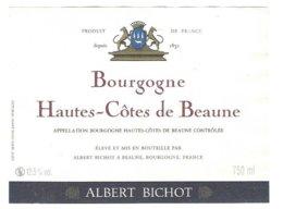 BOURGOGNE HAUTES COTES DE BEAUNE  - ALBERT BICHOT BEAUNE, BLASON - VOIR LE SCANNER - Rode Wijn