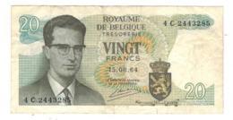 Belgium 20 Fr. 1964. VF. - [ 6] Treasury