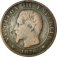 Monnaie, France, Napoleon III, 5 Centimes, 1856, Bordeaux, B+, Gadoury 152 - Francia