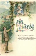 Illustrateur MARDIi Couple Mardi Passant Sous Sa Fenetre Il Surprit Son Regard Moqueur .. Gauffrée RV - Fantaisies